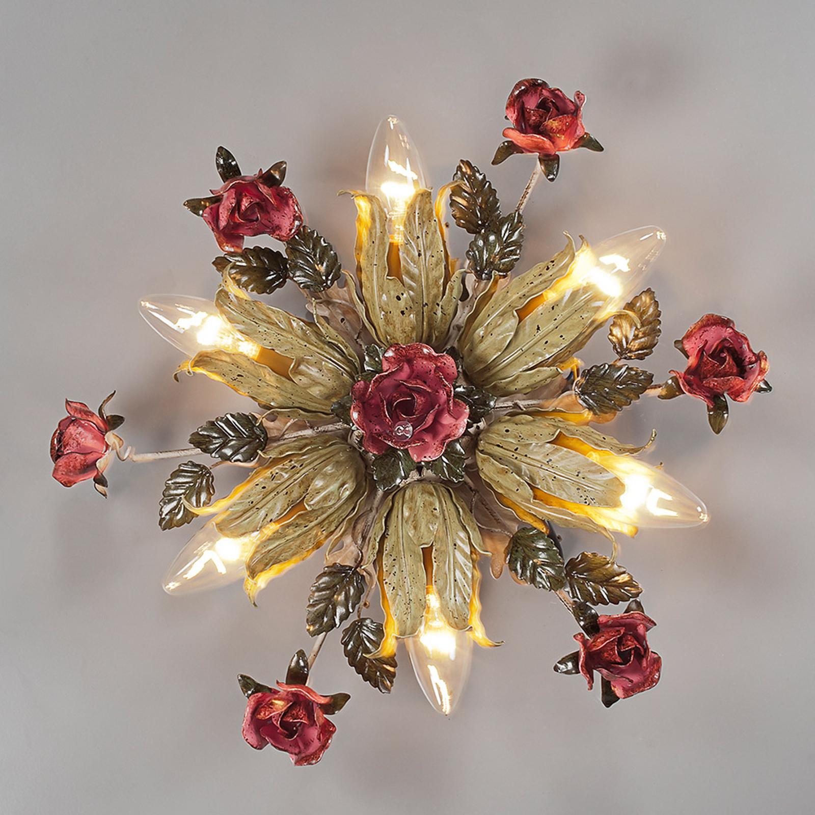 Plafoniera stile fiorentino Fiama 6 luci