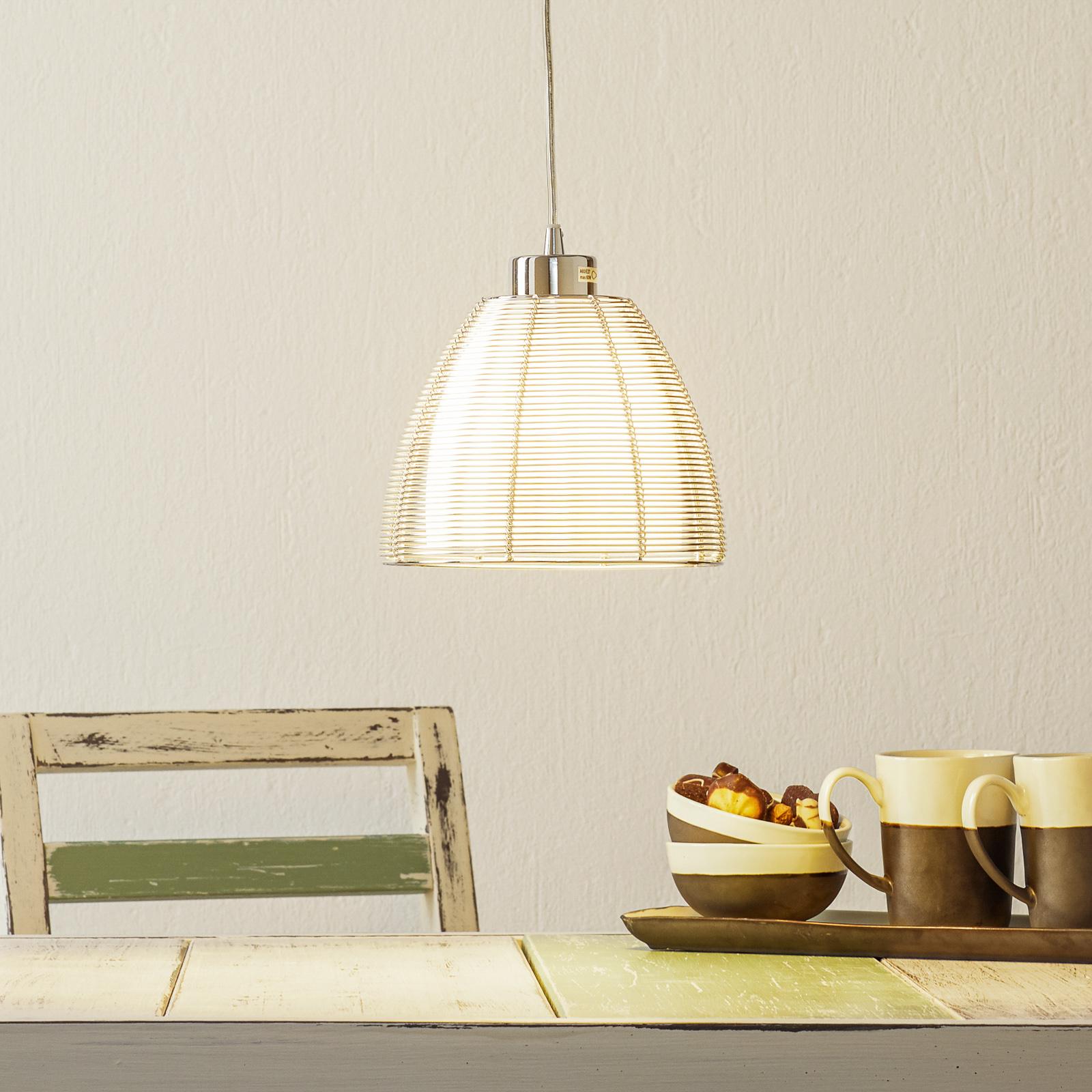 Pendellampa Relax, 1 lampa, 19 cm krom