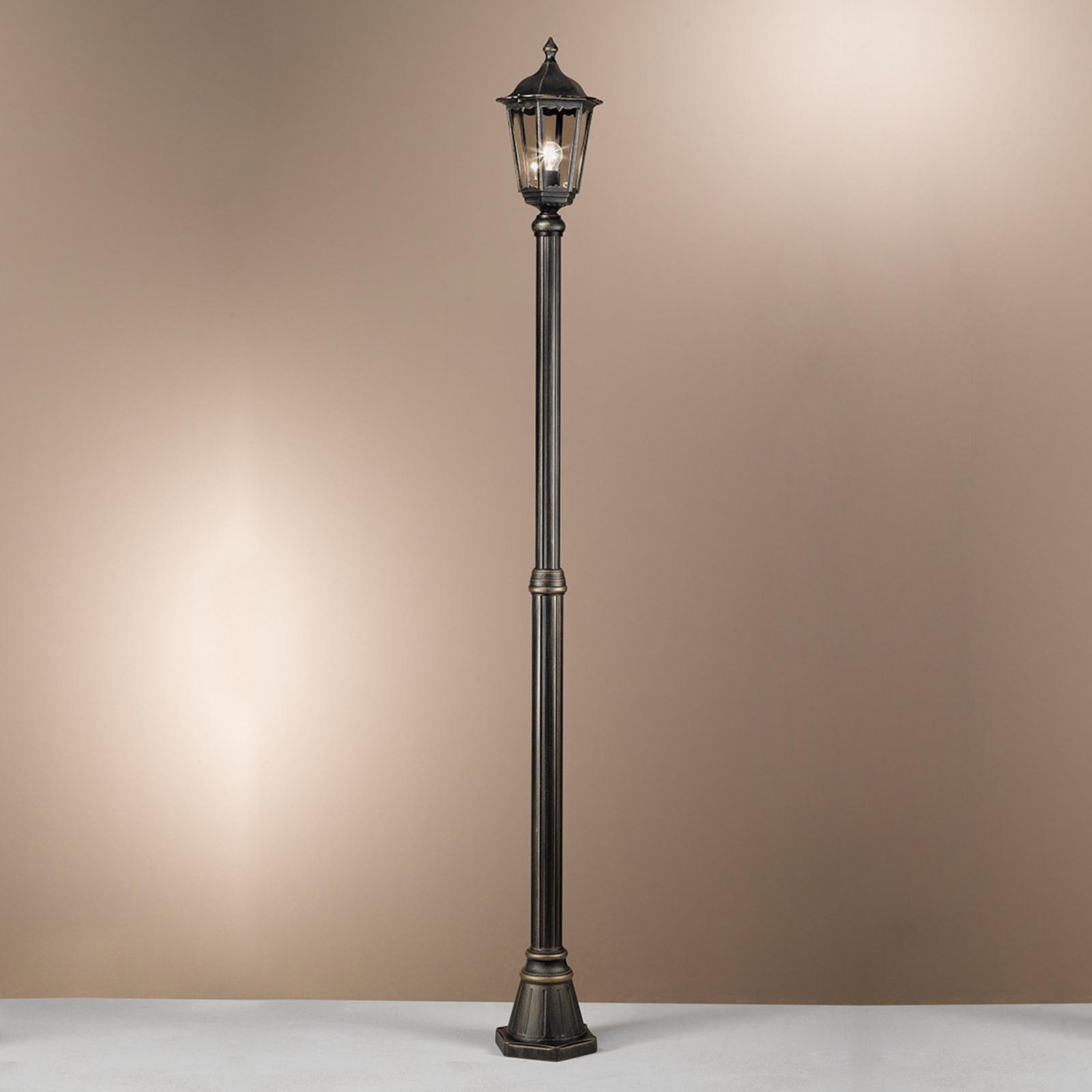 Mastleuchte Puchberg 1-flg., 249 cm, schwarz-gold