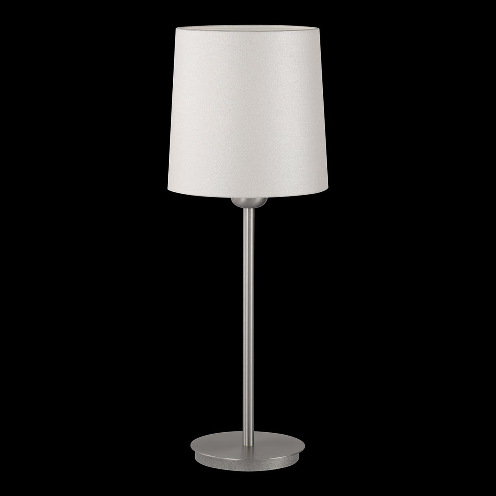 Tafellamp Havanna met parelmoereffect crèmewit