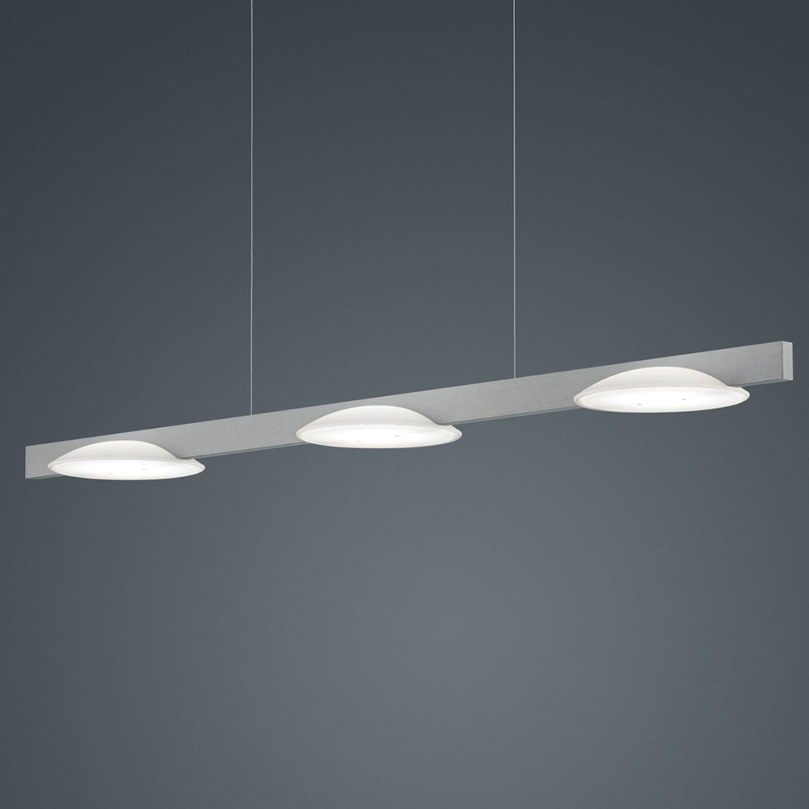 Helestra Pole lampa wisząca LED 3-pkt. niklowa