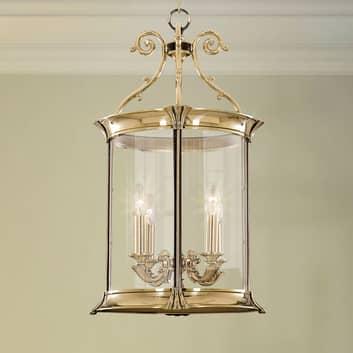 Lámpara colgante Pavel, 4 luces, dorado brillante