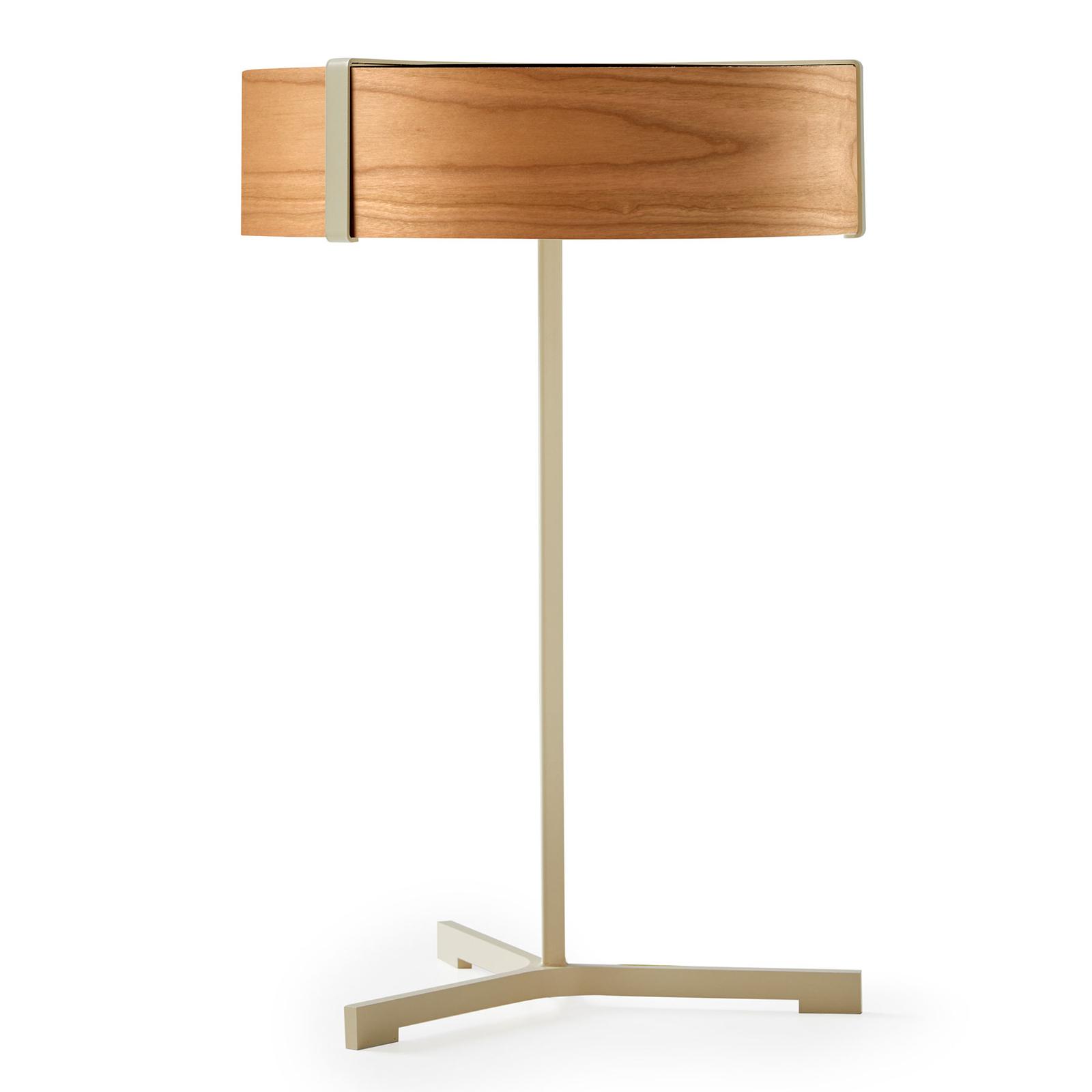 LZF Thesis lampe à poser LED ivoire/cerisier
