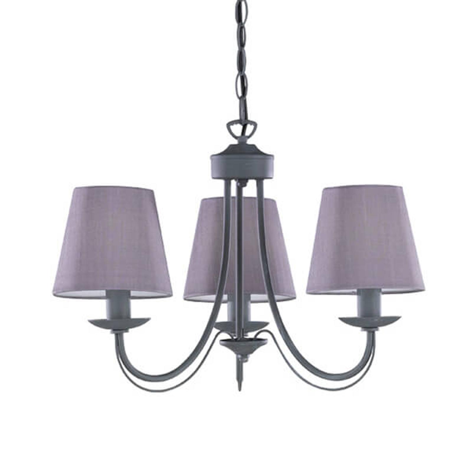 Lustr Cortez, šedý, 3 žárovky