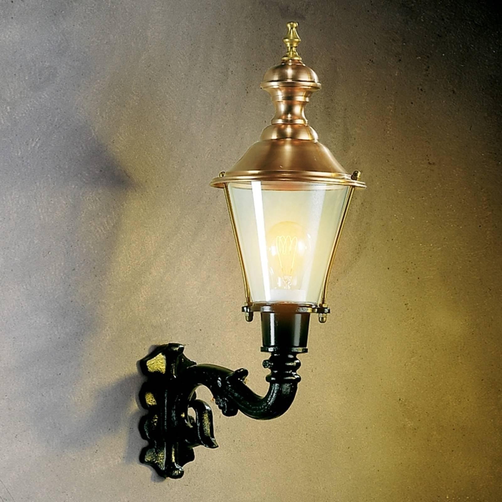 Buitenwandlamp Hoorn, fitting boven, groen