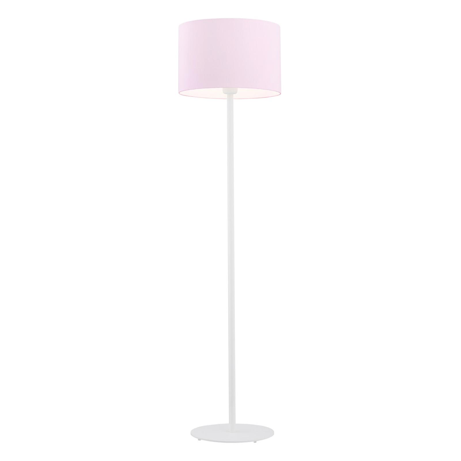 Moa gulvlampe, pink stofskærm