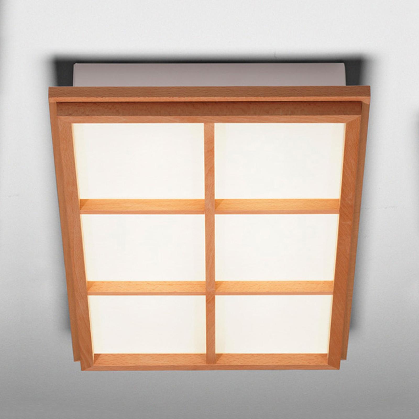 Lámpara de techo Kioto 6 rectangular