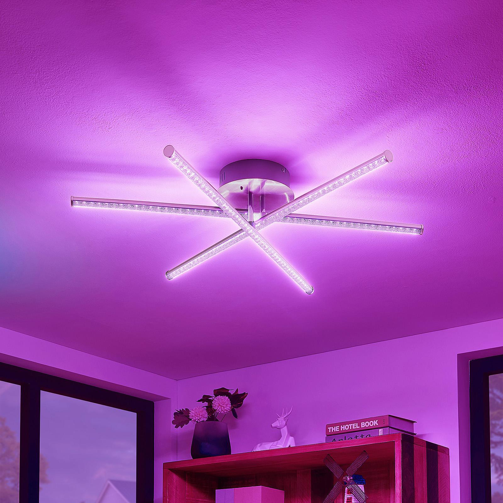 Lindby Lansson LED-RGB-taklampe, 3 lyskilder