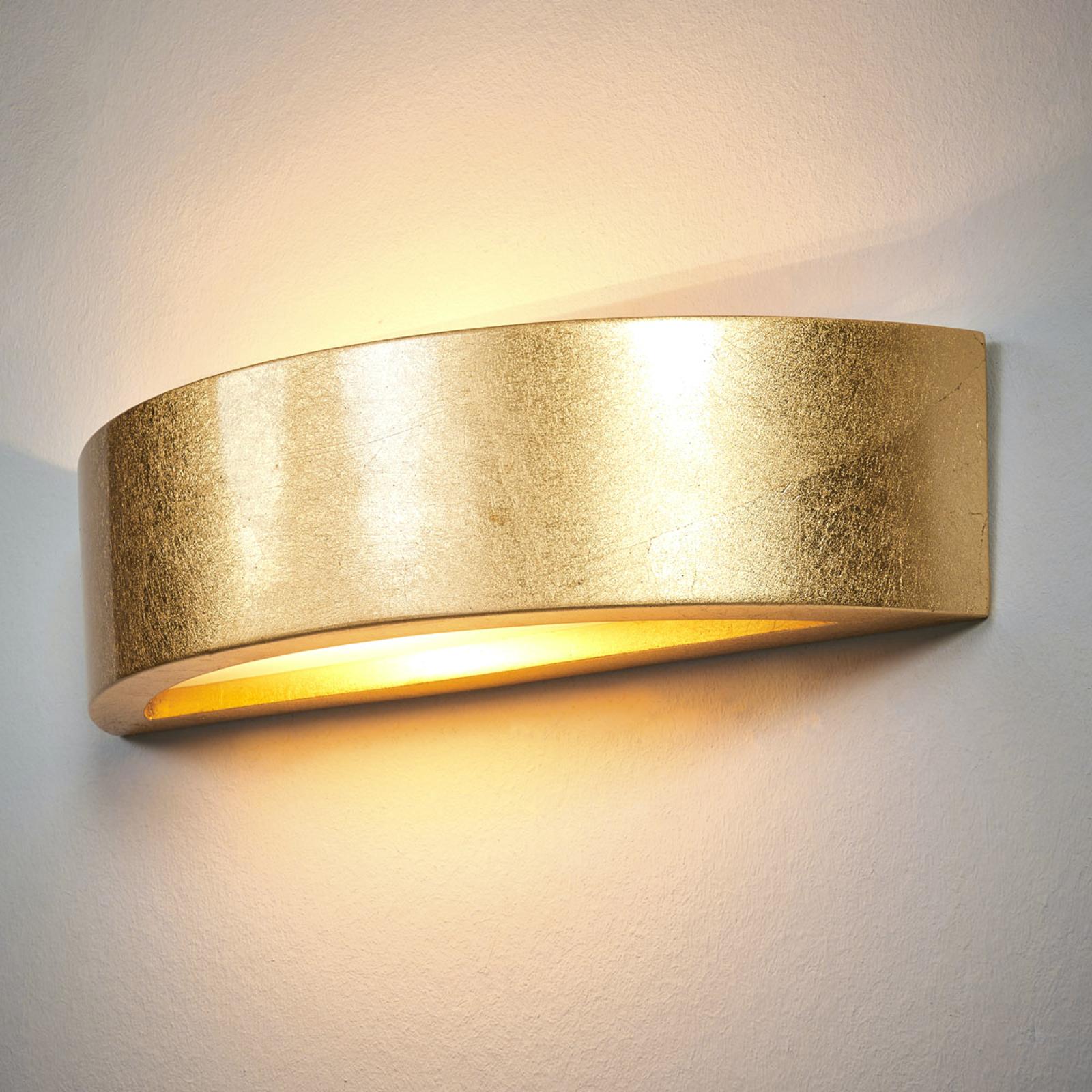 Jasin - wandlamp met gouden oppervlak