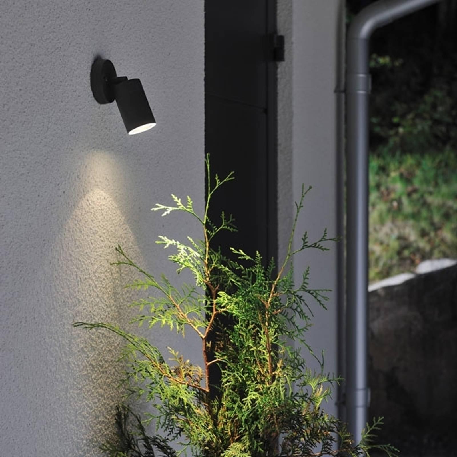 Buitenwandlamp New Modena, GU10 spot, zwart