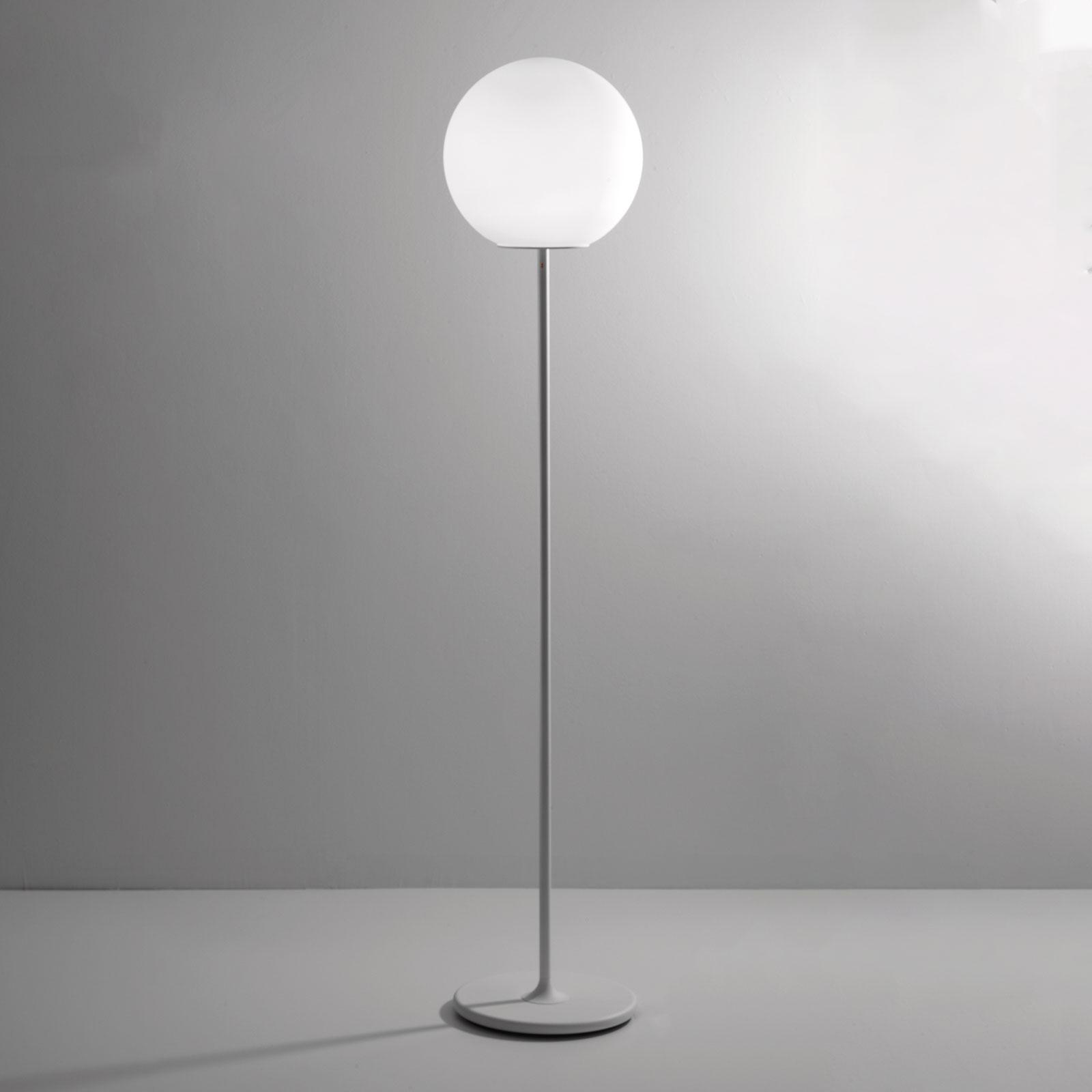Fabbian Lumi Sfera lampadaire en verre, Ø 35cm