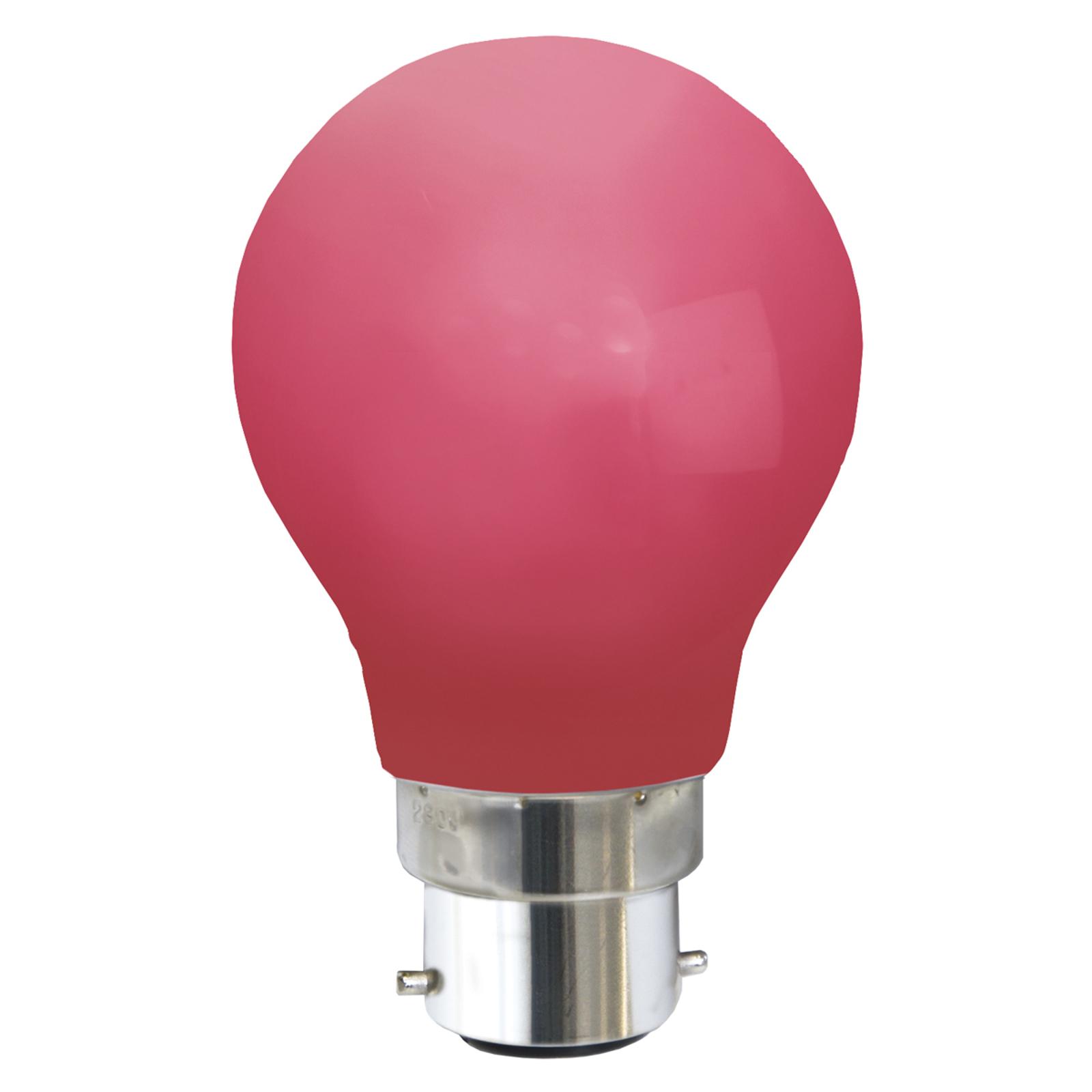 B22 0,8W LED-Lampe, rot