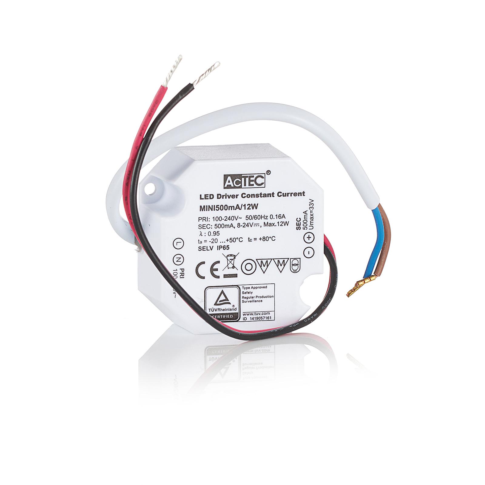 AcTEC Mini LED-driver CC 500 mA, 12 W, IP65
