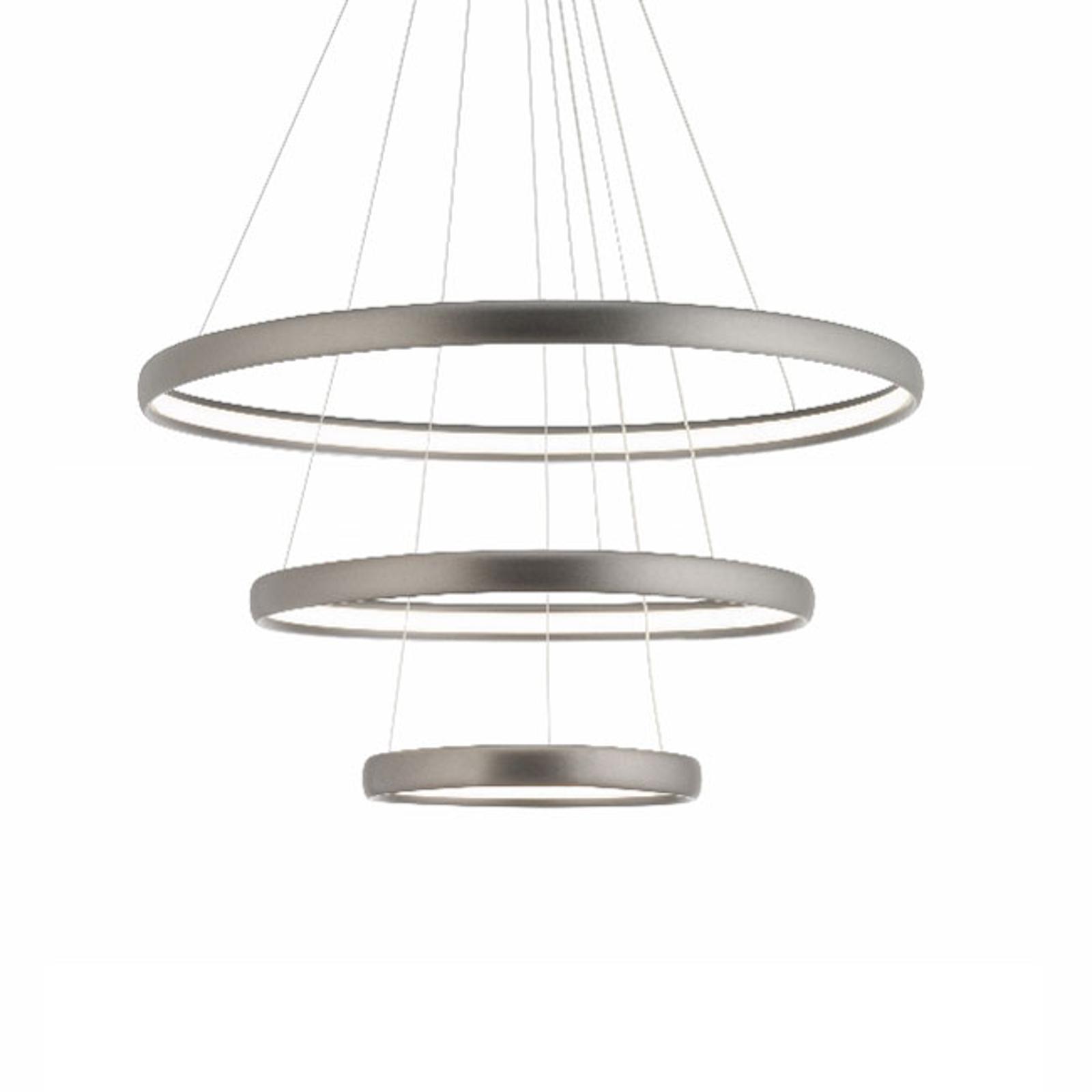 Lampa wisząca LED Trinity z aluminium, srebrna