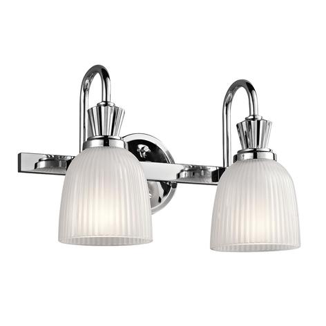 LED-vegglampe Cora til badet, 2 lys