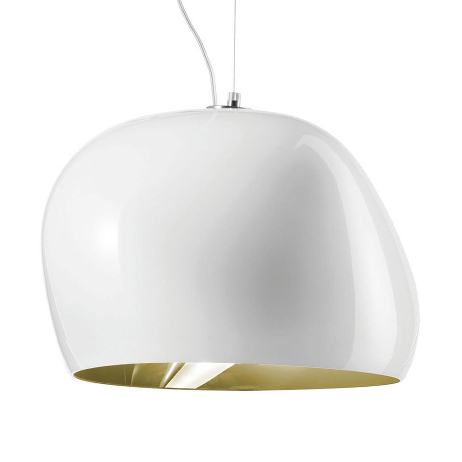 Hängeleuchte Surface Ø 40 cm,  E27, weiß/altgrün