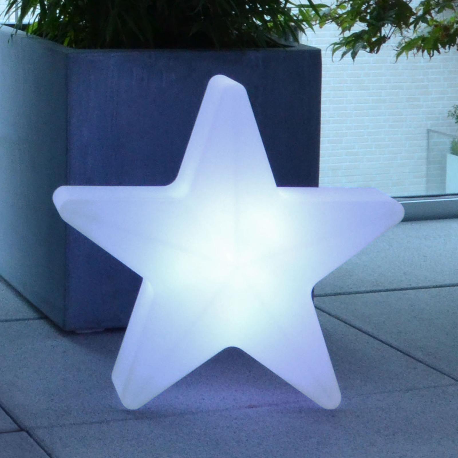 Star LED-dekorasjonsstjerne, batt.drift, 40x40cm