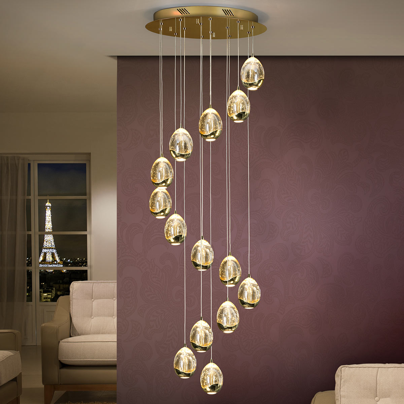 14-punktowa lampa wisząca LED Rocio