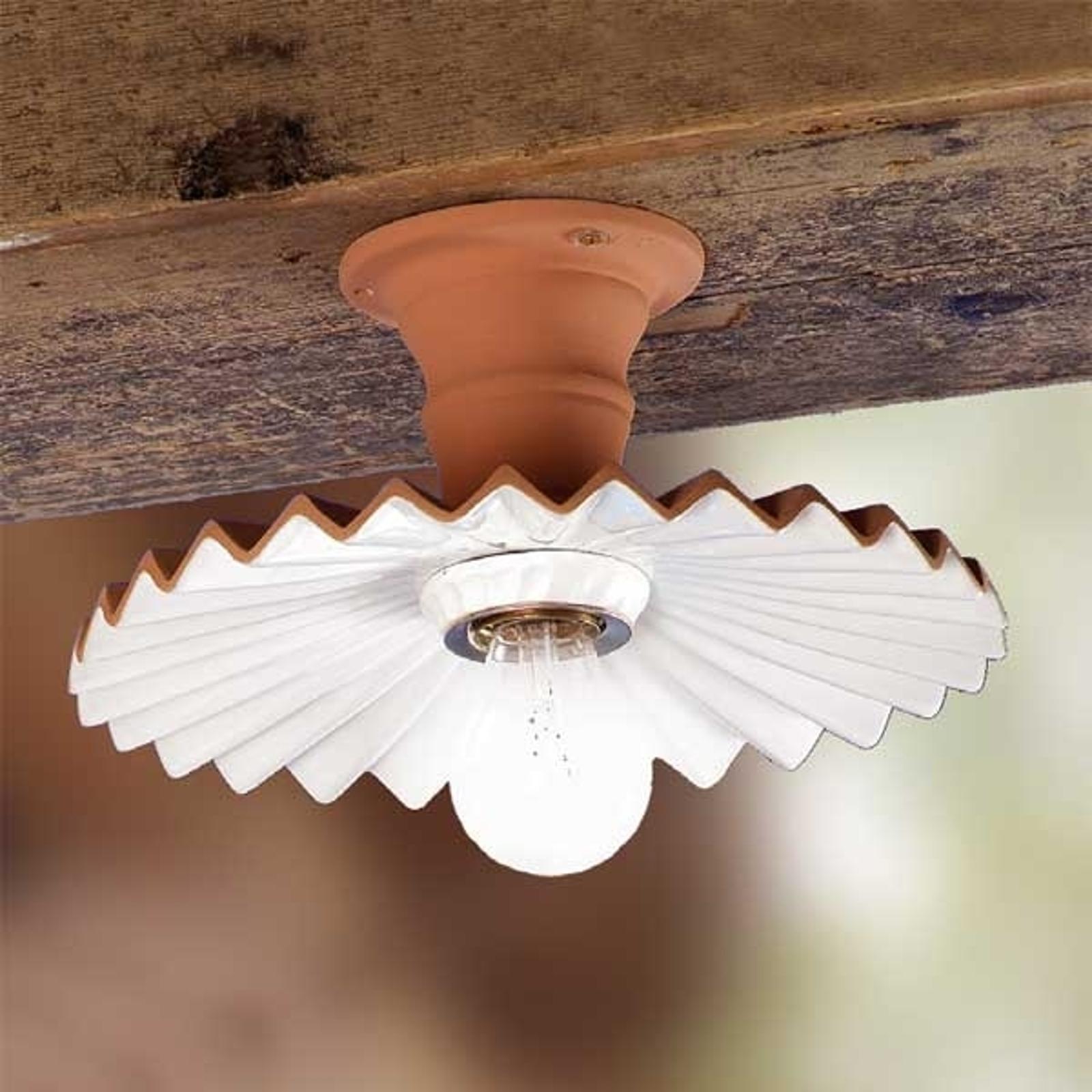 Plafonnier ARGILLA aspect rustique