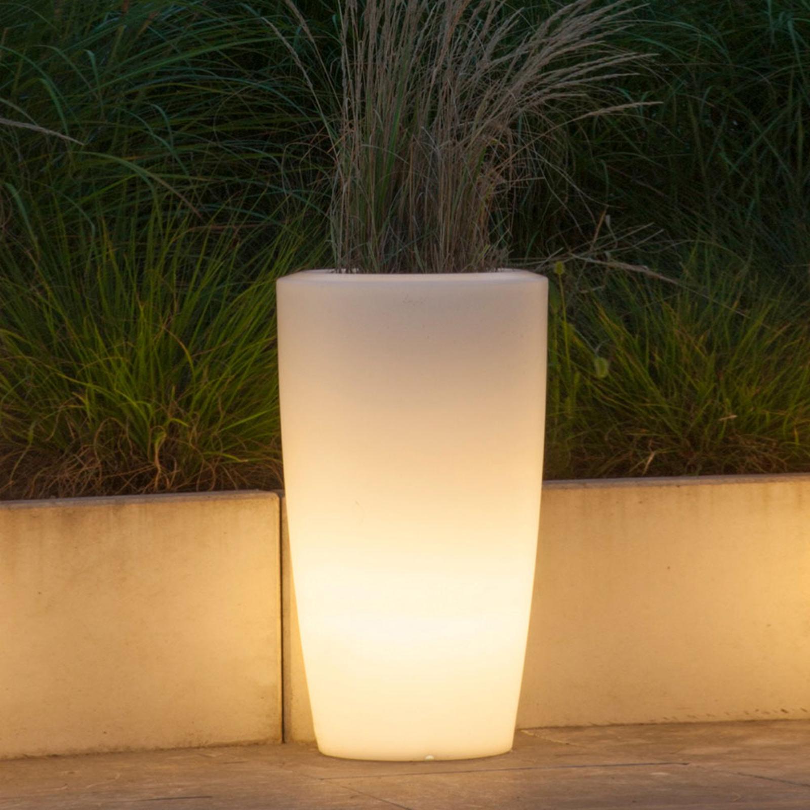 Lampa dekoracyjna Rovio III donica, biała