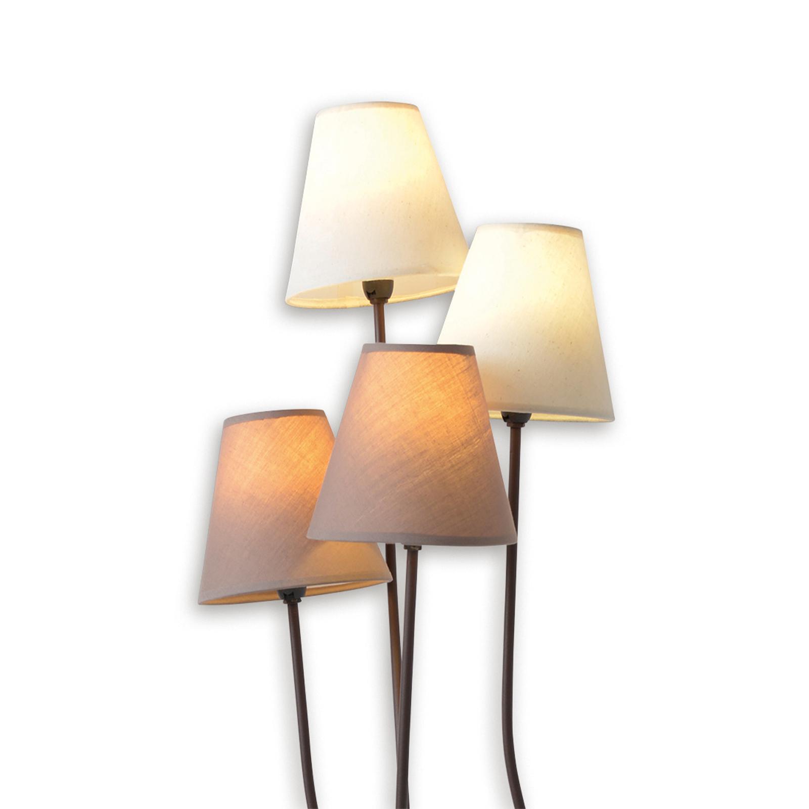 Twiddle - lampa stojąca z czterema abażurami