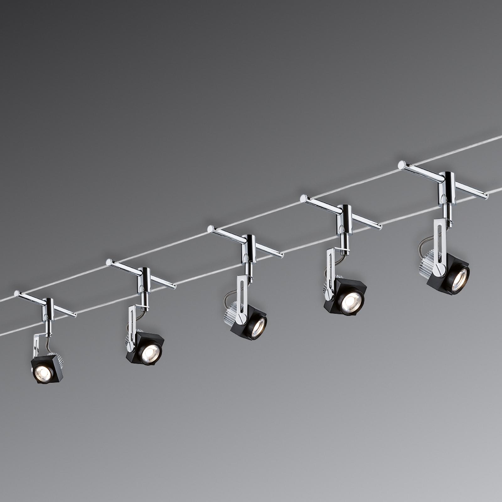 Paulmann Phase LED-Seilsystem komplett, 5-flammig