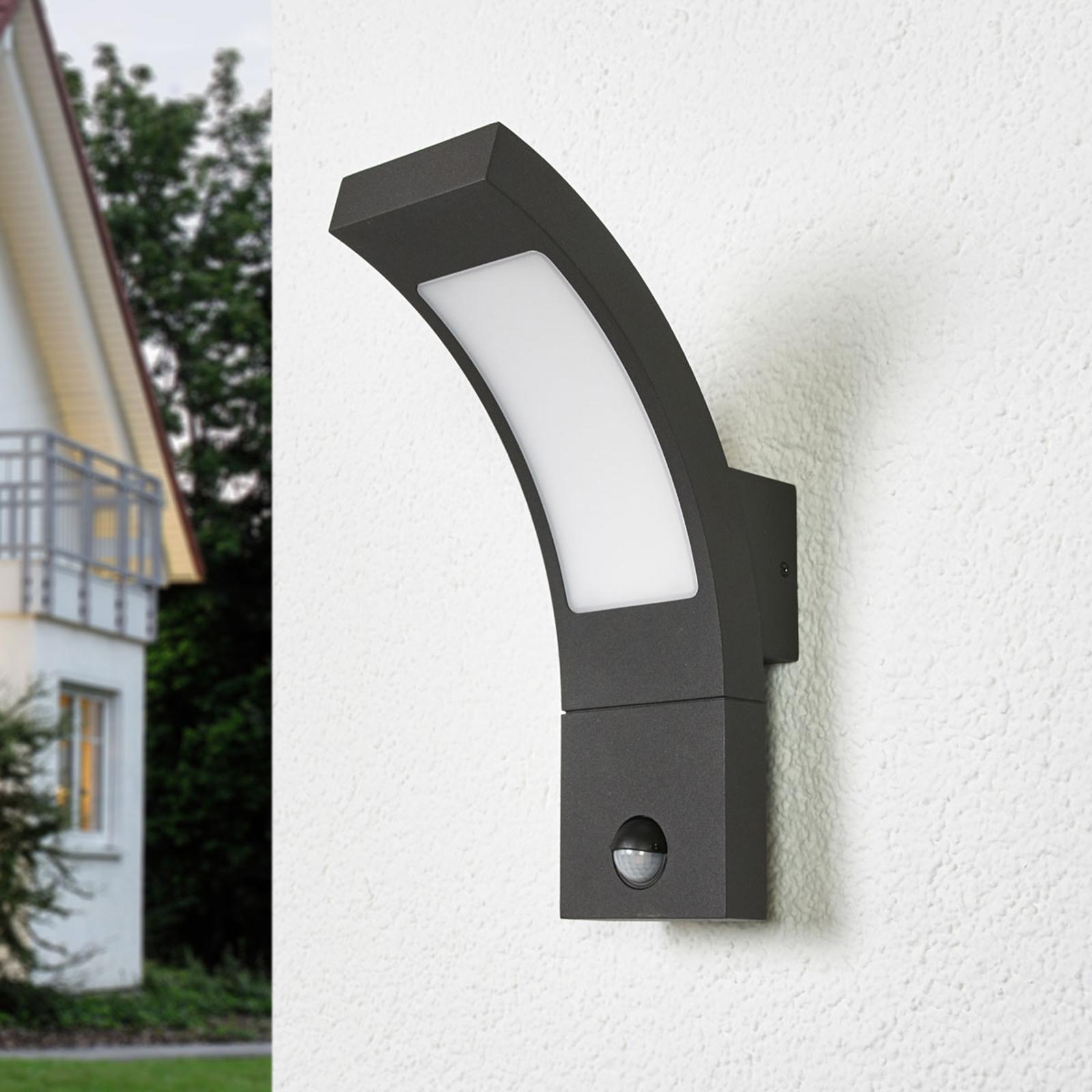Applique d'extérieur Juvia à LED et détecteur