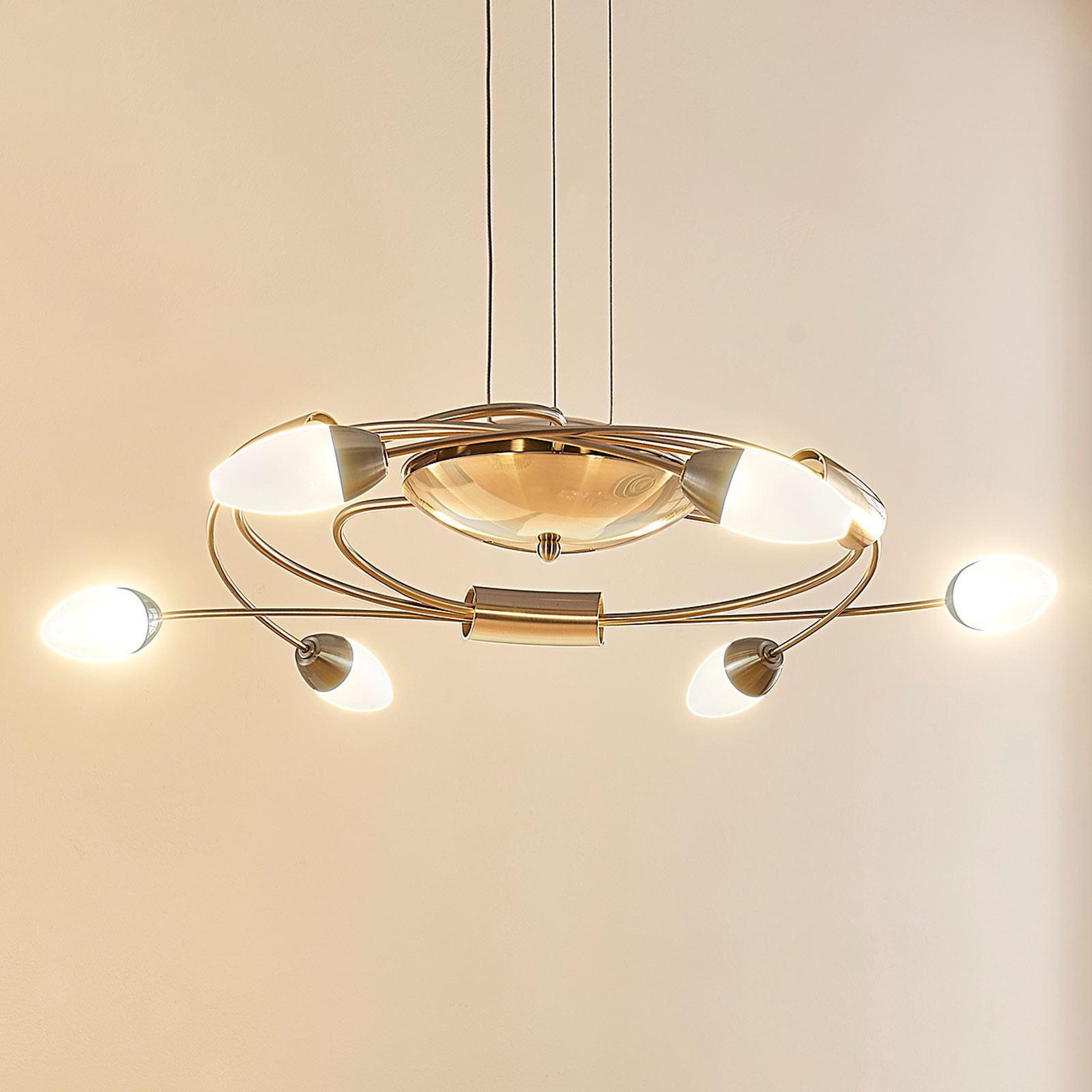 LED-hengelampe Deyan, dimbar, 6 lyskilder