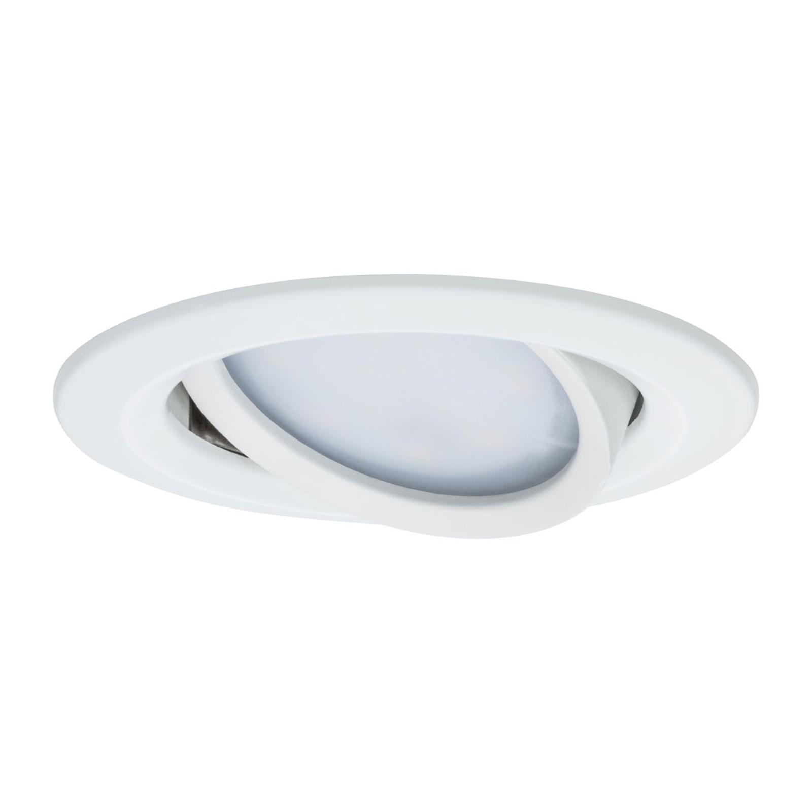 Paulmann Nova Plus lot de 3 spots LED rond blanc