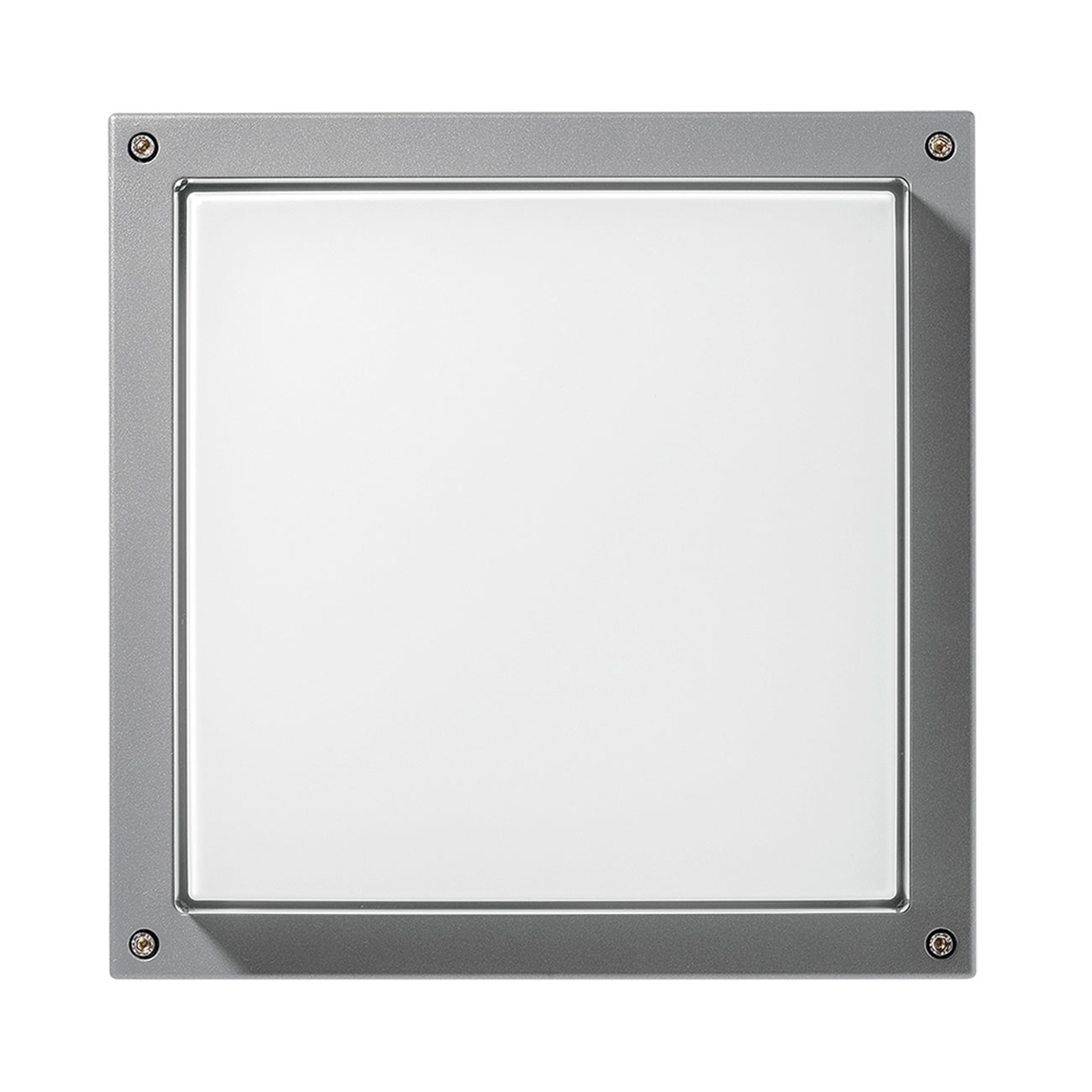 Applique Bliz Square 40, 3 000 K grise dimmable