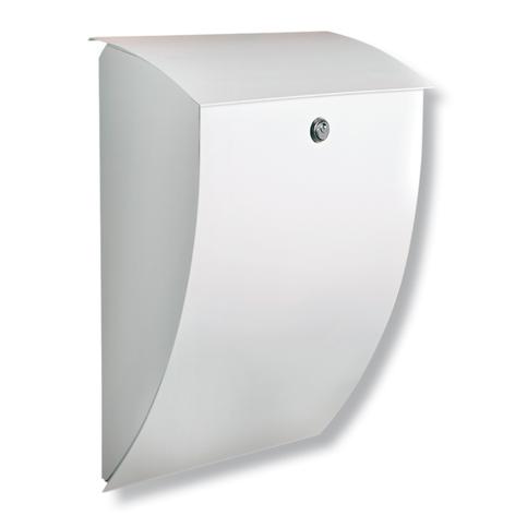 Milano verzinkter Stahlbriefkasten in Weiß
