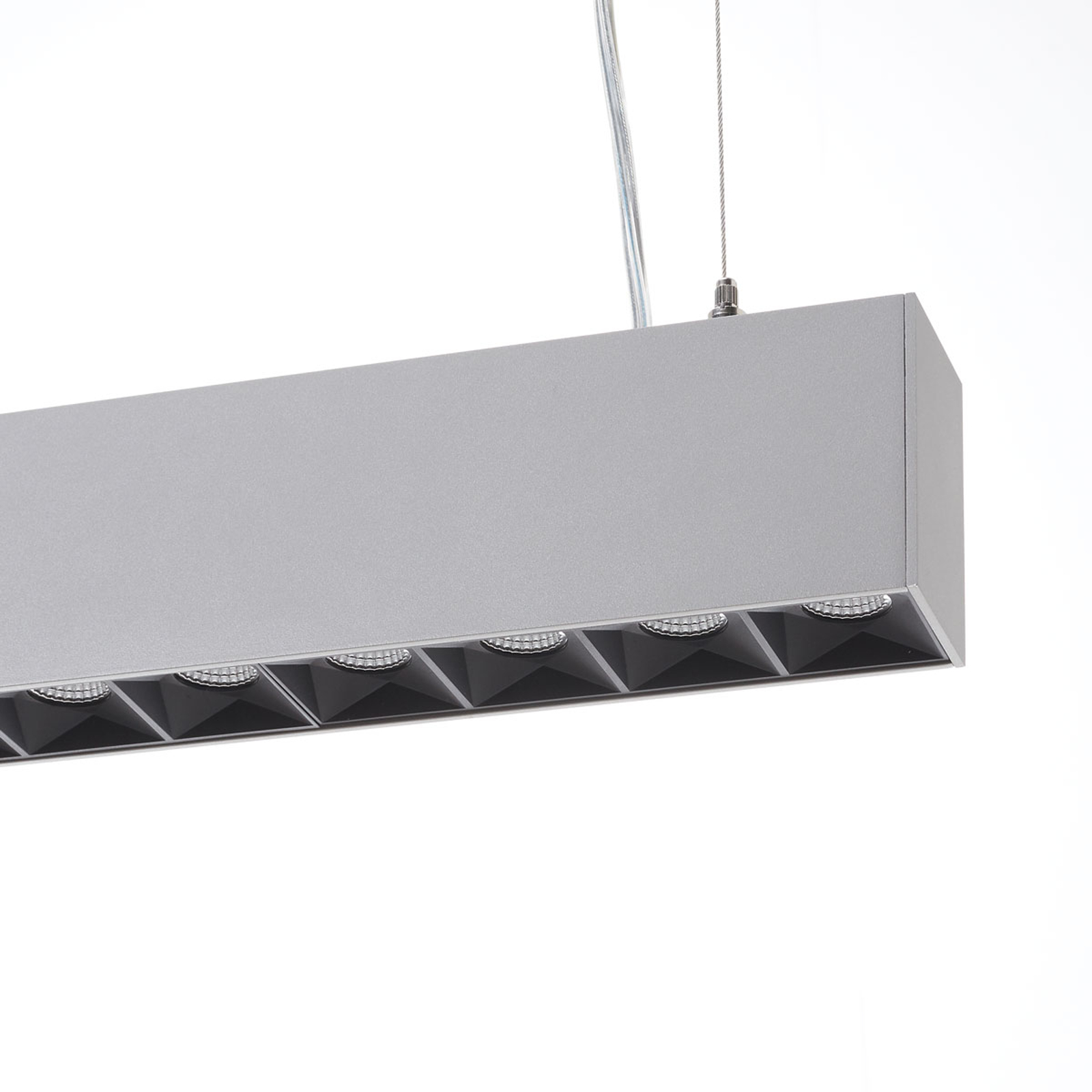 LED-Office-Pendellampe Laris, silber