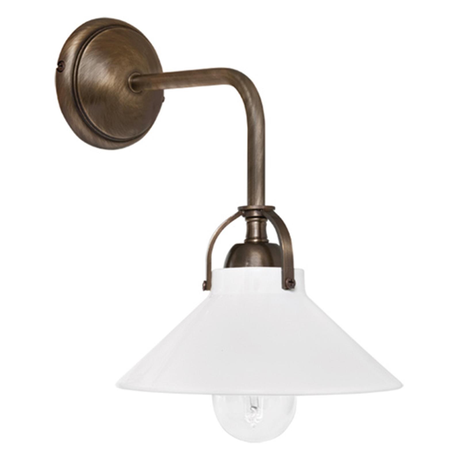 Gegoten messing - wandlamp Ike