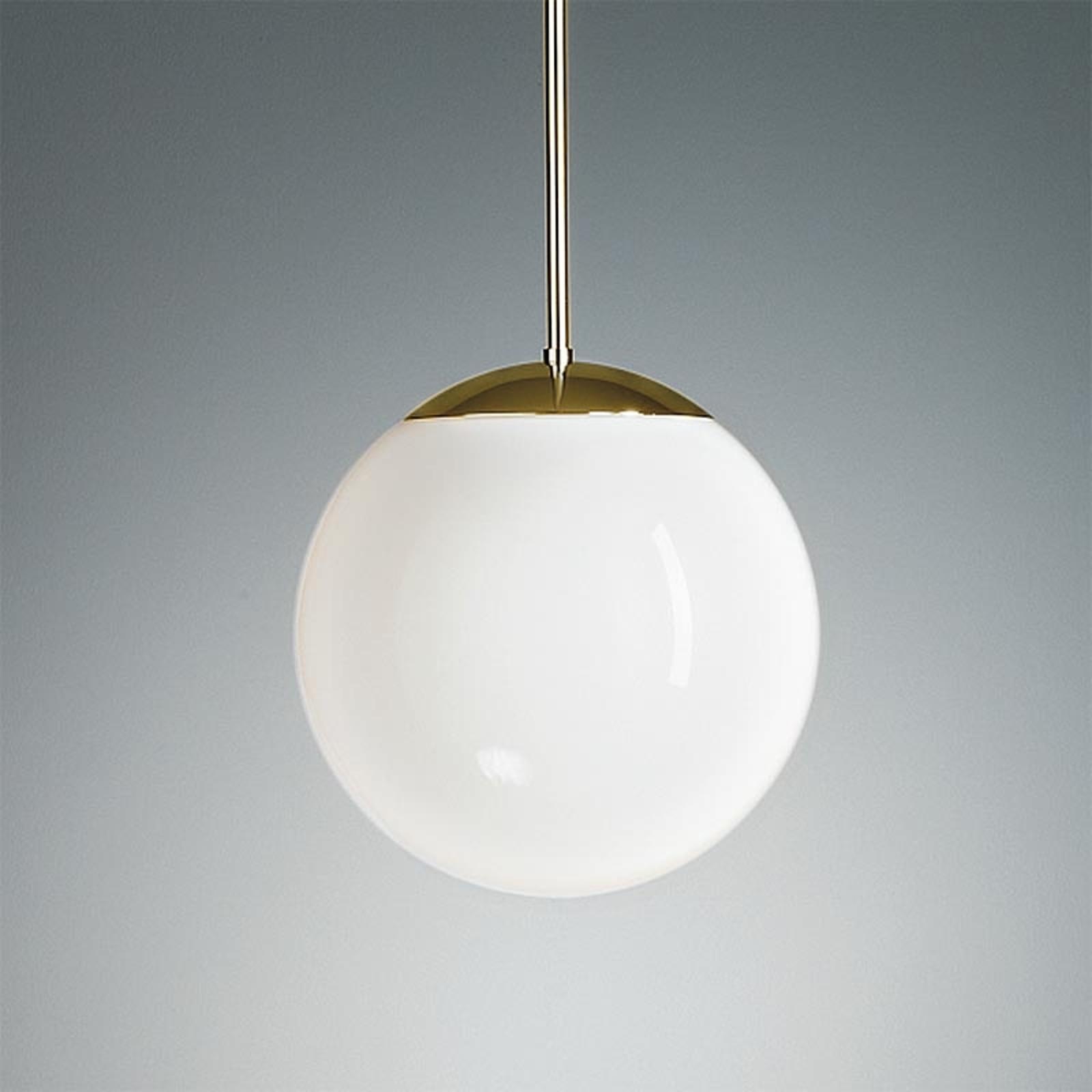 Suspension laiton boule opale 20 cm