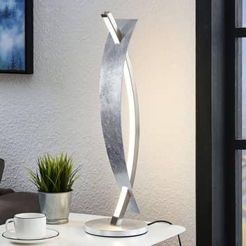 LED-bordslampa Marija i ädel silver-look