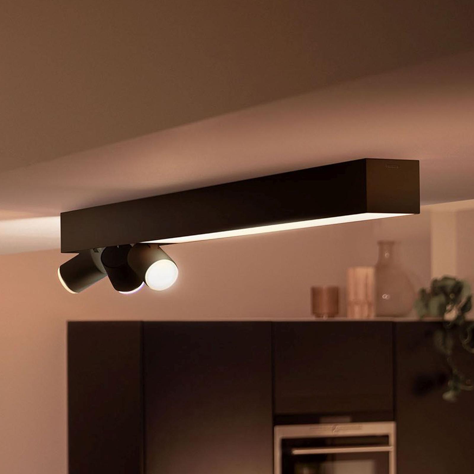 Philips Hue Centris spot soffitto 3 luci nero
