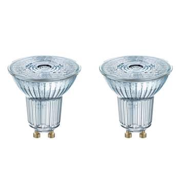 GU10 4,3 W 827 LED-reflektor, sett på 2
