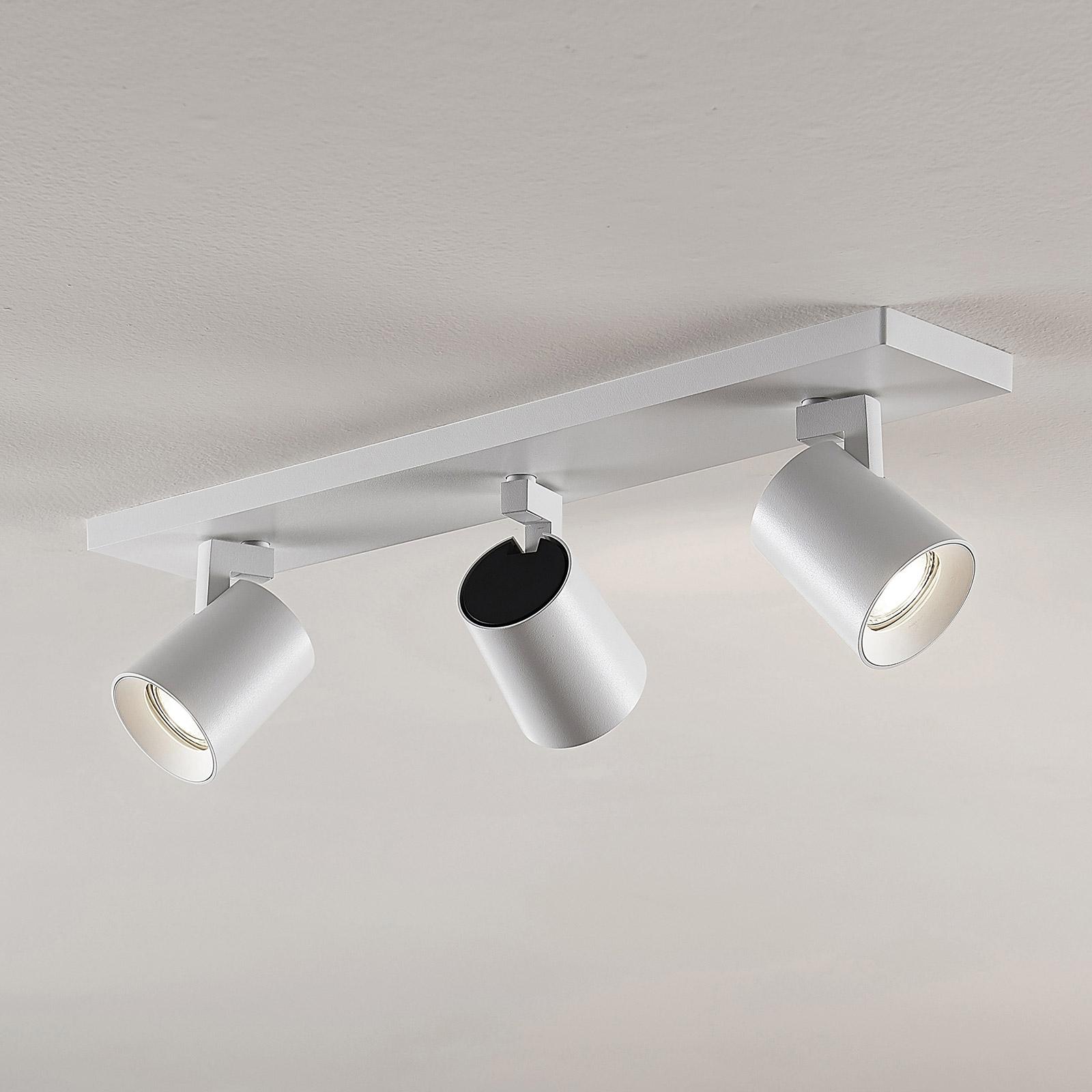 Reflektor sufitowy Iavo, biały, 3-punktowy