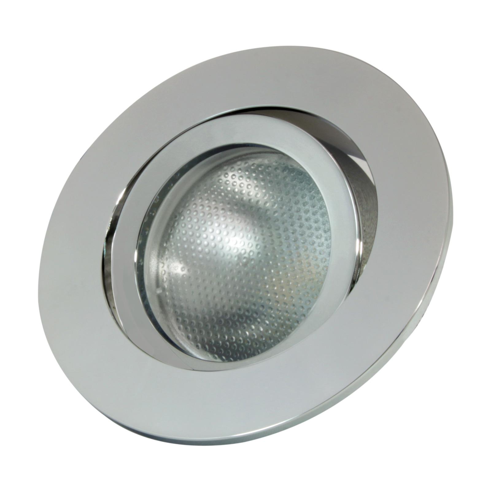 LED-Einbauring Decoclic GU10/GU5.3, rund, silber