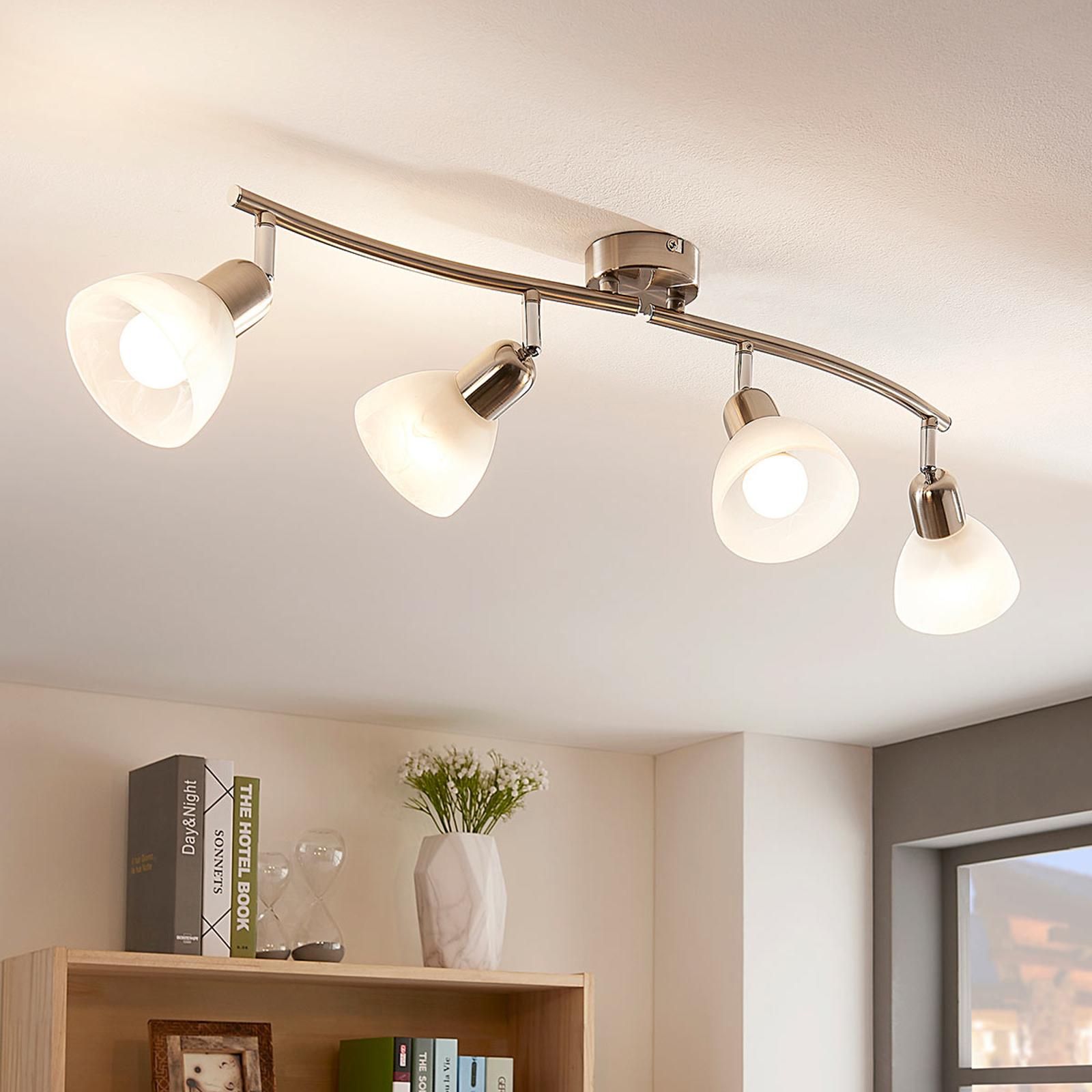 Diskre LED-taklampe Paulina, 4 lys