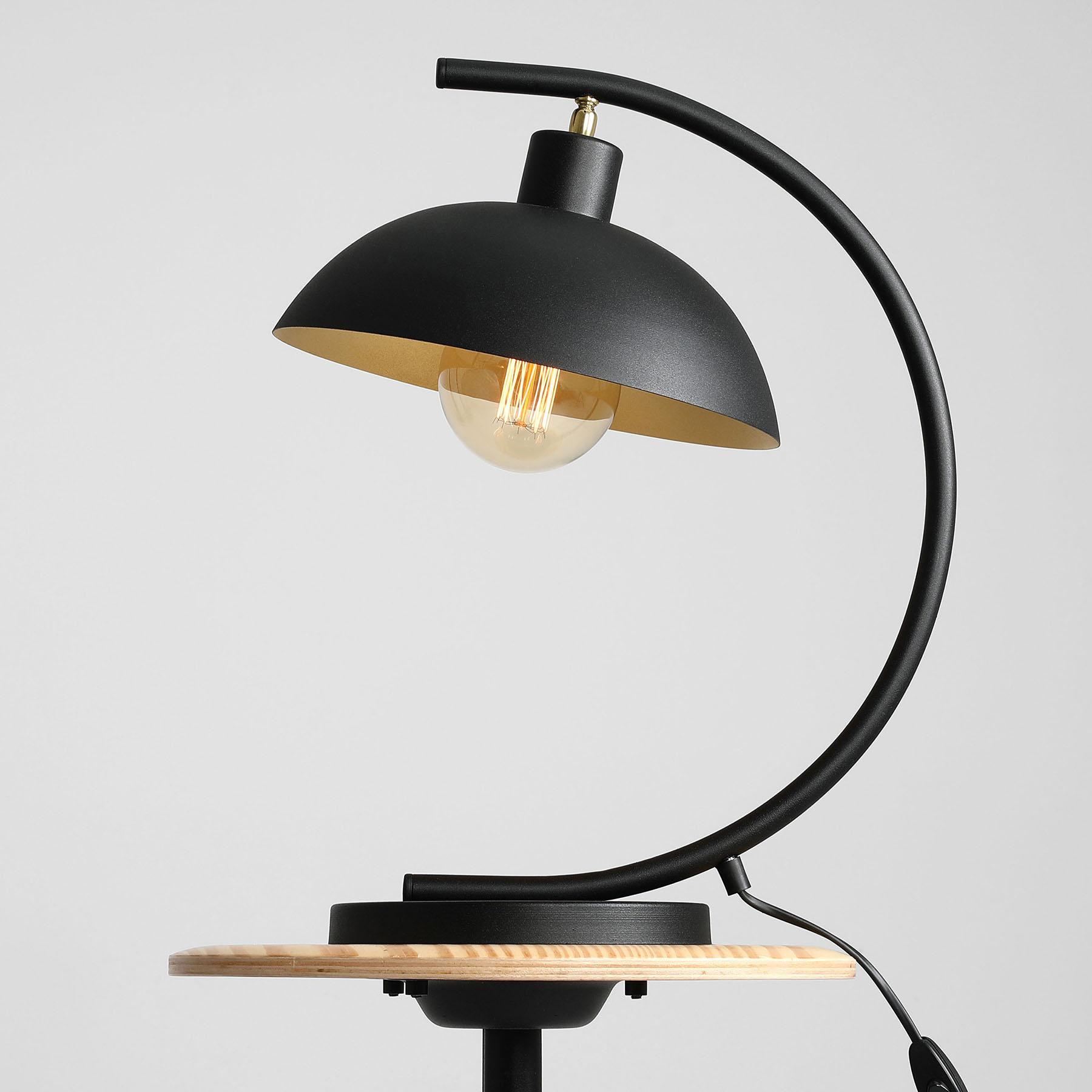 Lampe à poser 1036, à 1 lampe, noire-dorée