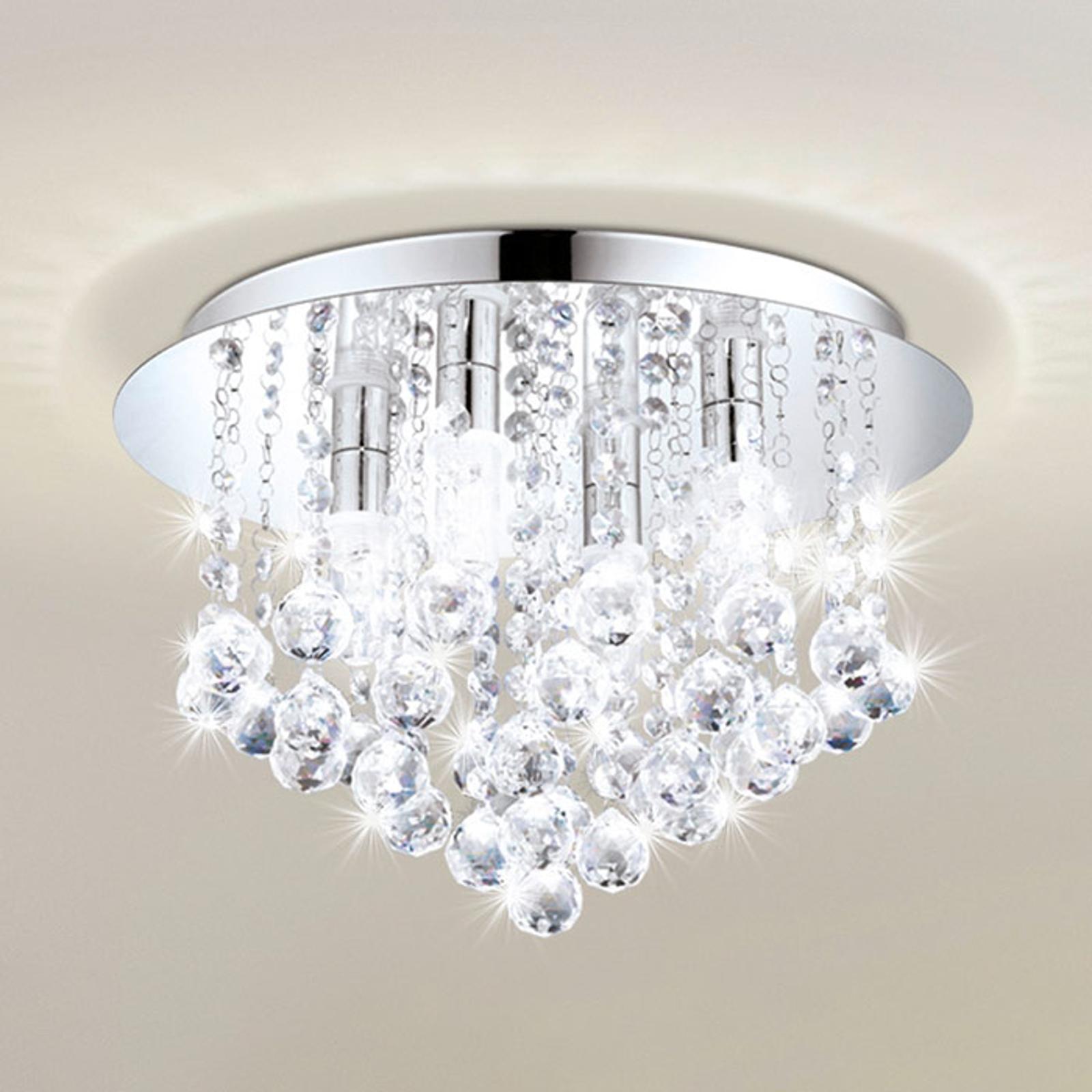 LED plafondlamp Almonte met behang, 35cm