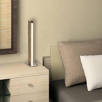Leona – puinen pöytävalaisin LEDeillä