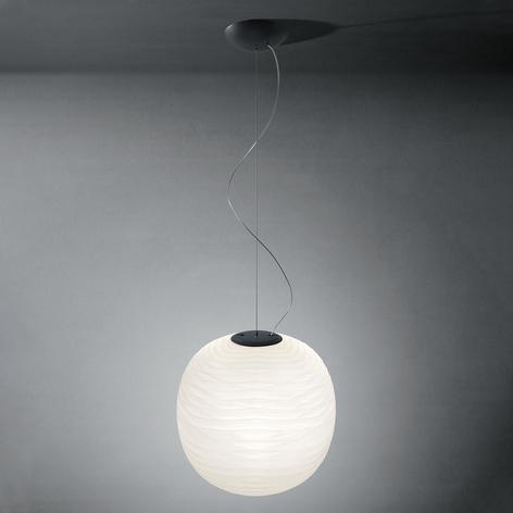 Foscarini Gem lámpara colgante de vidrio, grafito
