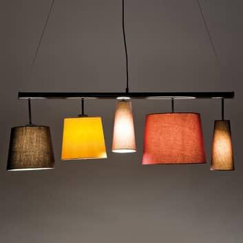 Parecchi Colore – lampa wisząca, 5 kloszy