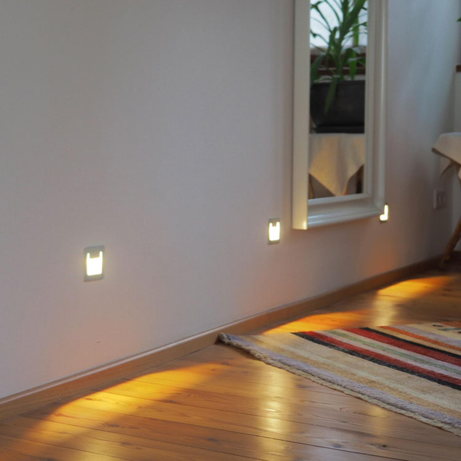 LED innfelt vegglampe Pen, kantet