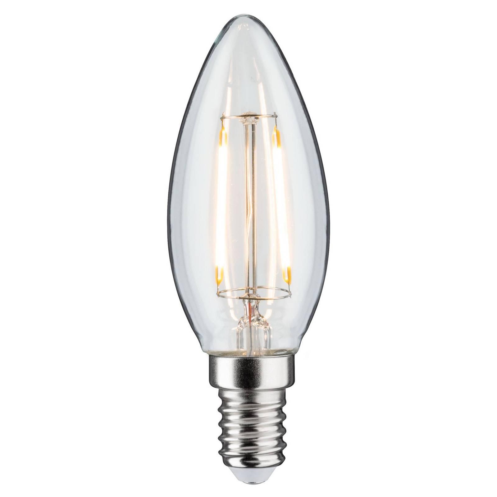 Paulmann LED candela E14 2W 3.000K claro DC 24V