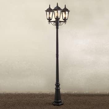 Firenze-lyhtypylväs, 3-lamppuinen, lyhtymäinen