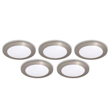 Spot incasso FR 68-LED set 5x bianco caldo