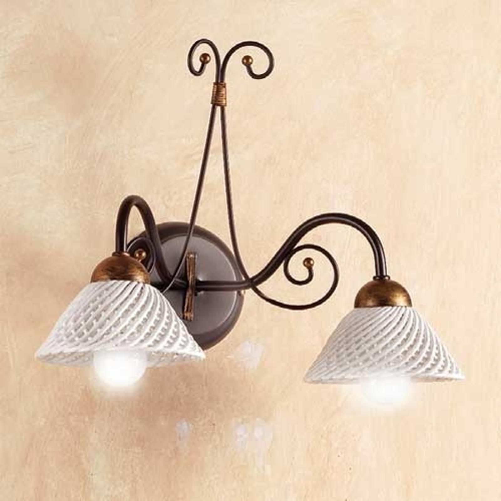 Væglampe RETINA, med 2 lyskilder